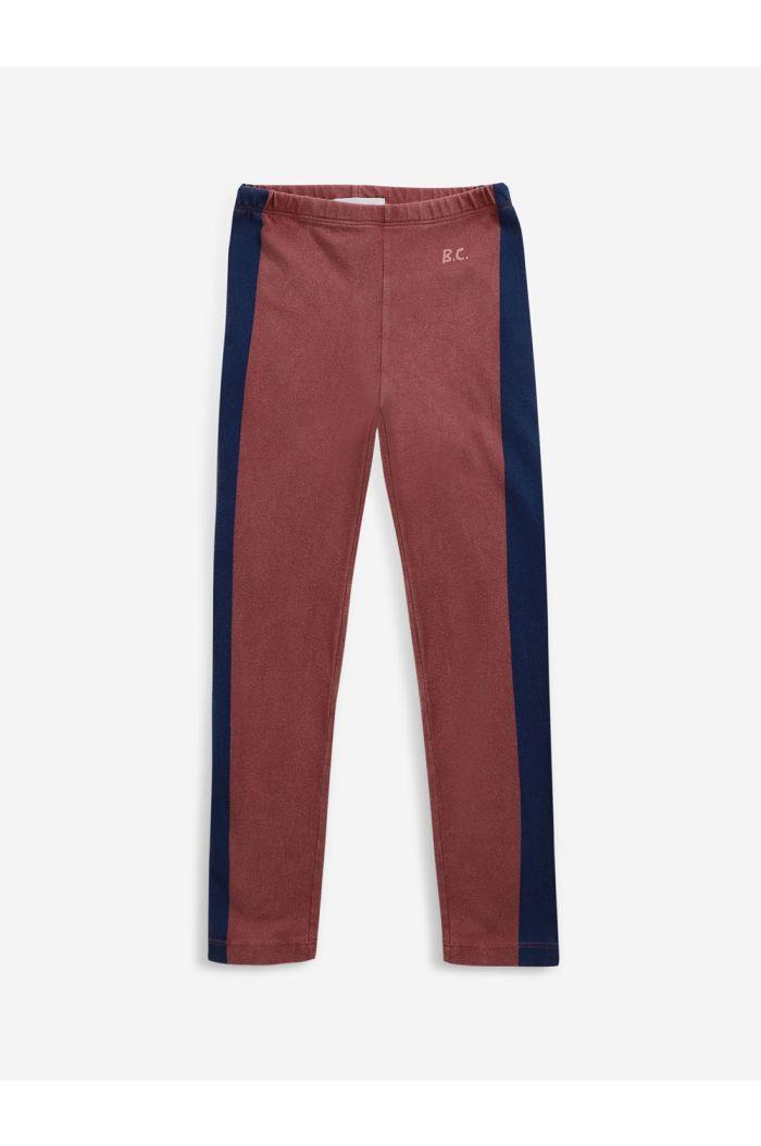 Bobo Choses Blue Stripes leggings Tandoori Spice_1