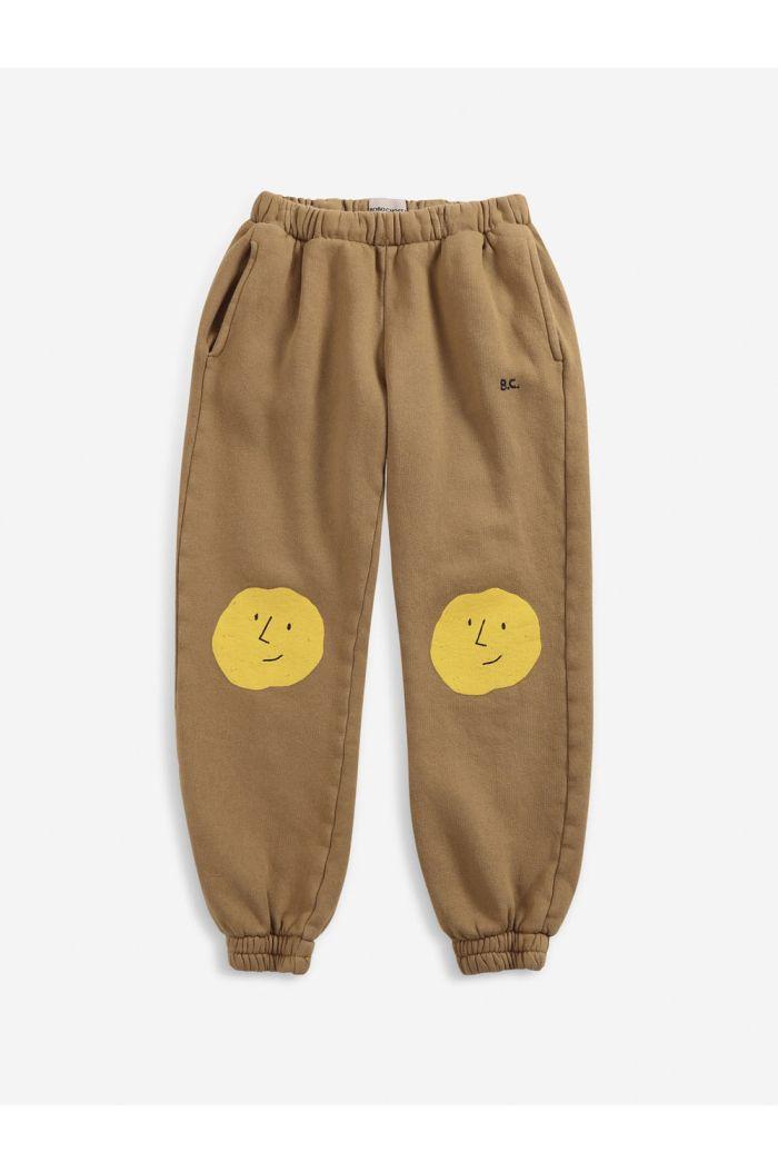 Bobo Choses Faces jogging pants  Apple Cinnamon_1