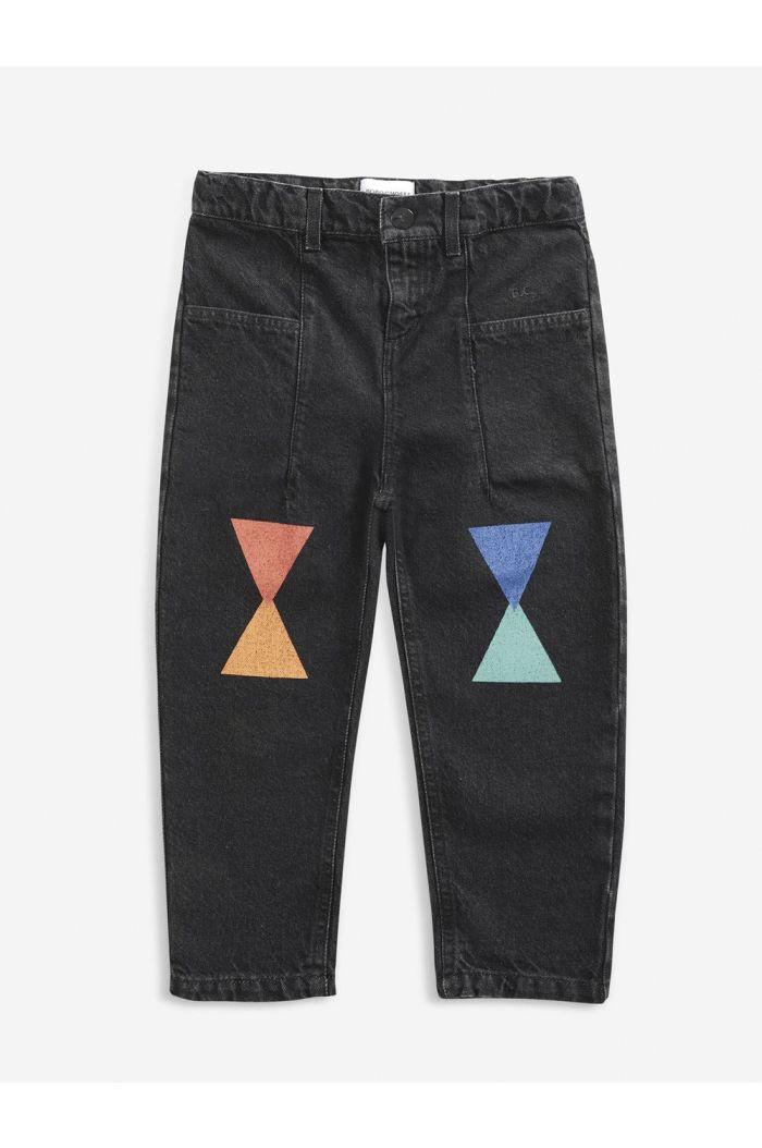 Bobo Choses Geometric denim pants December Sky_1