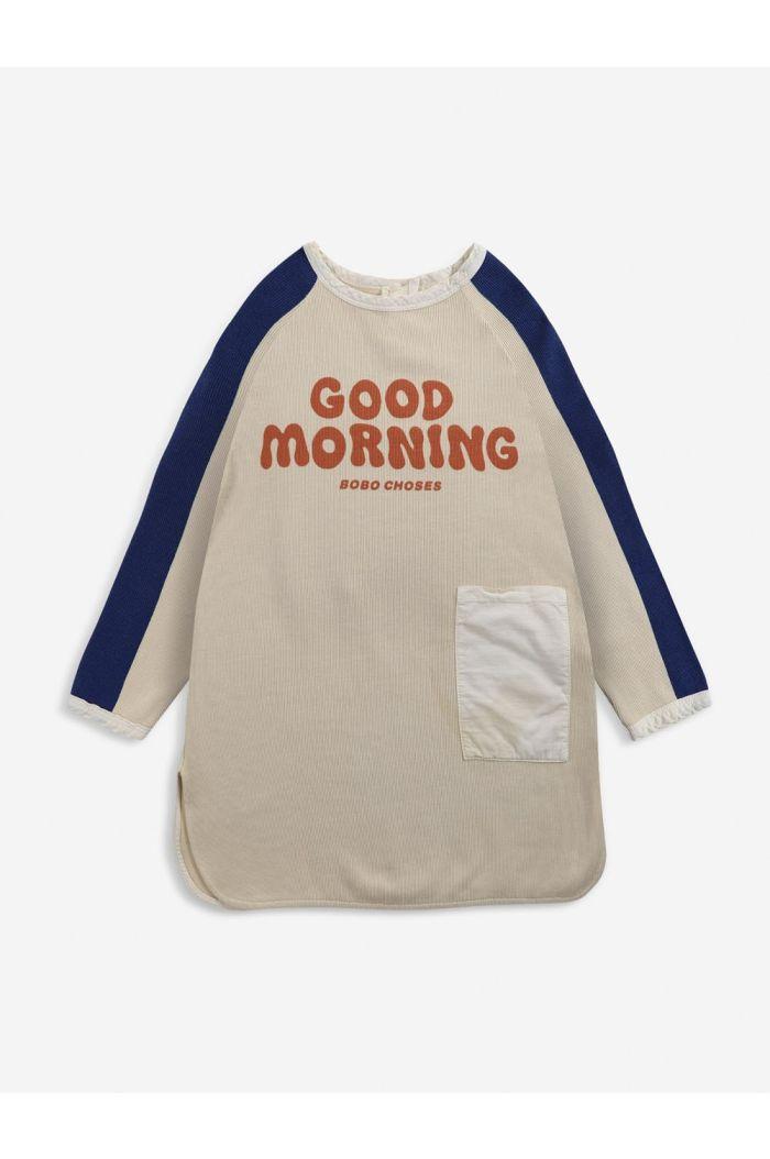 Bobo Choses Good Morning fleece dress Soybean_1