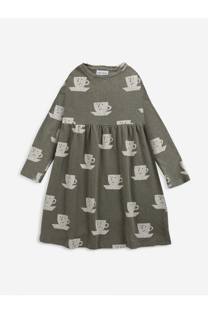 Bobo Choses Cup Of Tea All Over midi dress Dried Herb_1