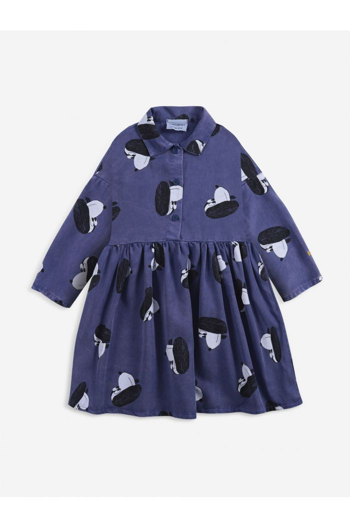 Bobo Choses Doggie All Over woven buttoned dress Royal Blue_1