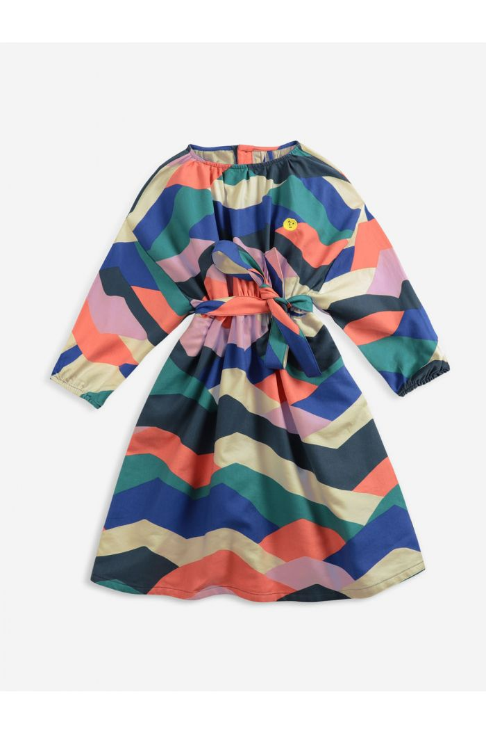 Bobo Choses Multi color block woven dress Twilight Blue_1