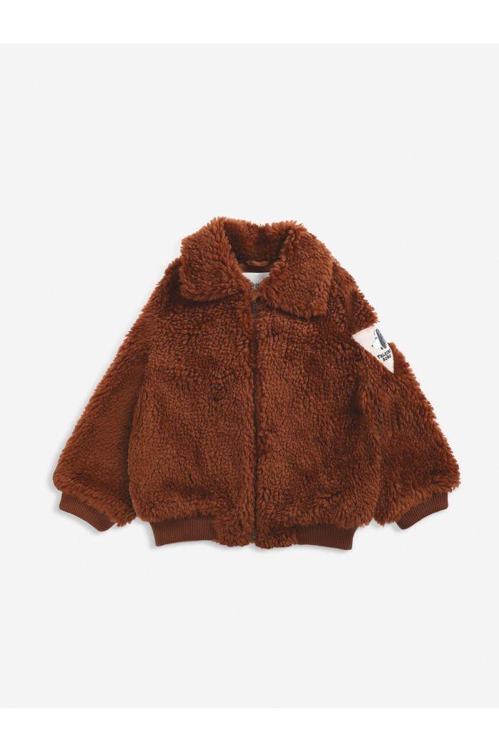 Bobo Choses Doggie Patch sheepskin jacket Tandoori Spice_1