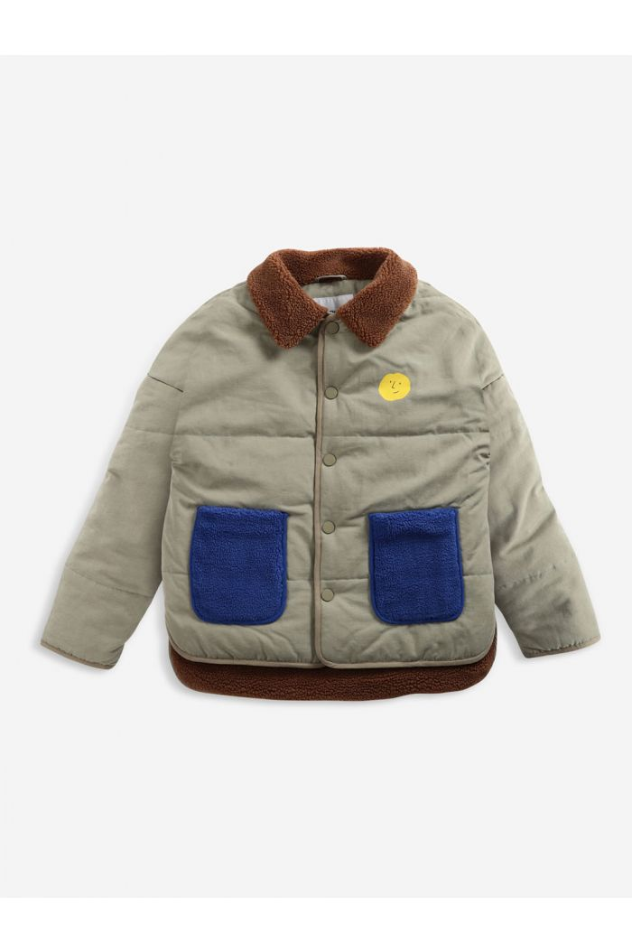 Bobo Choses Face multicolor jacket Dried Herb_1