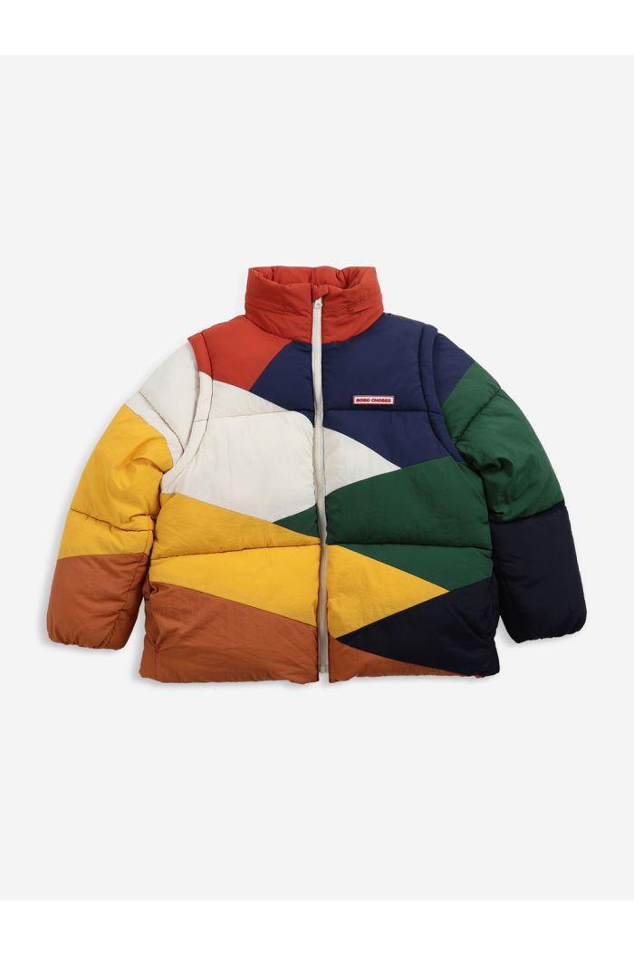 Bobo Choses Multi color block padded jacket Twilight Blue_1