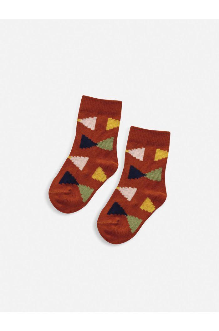 Bobo Choses Geometric baby socks Tandoori Spice_1