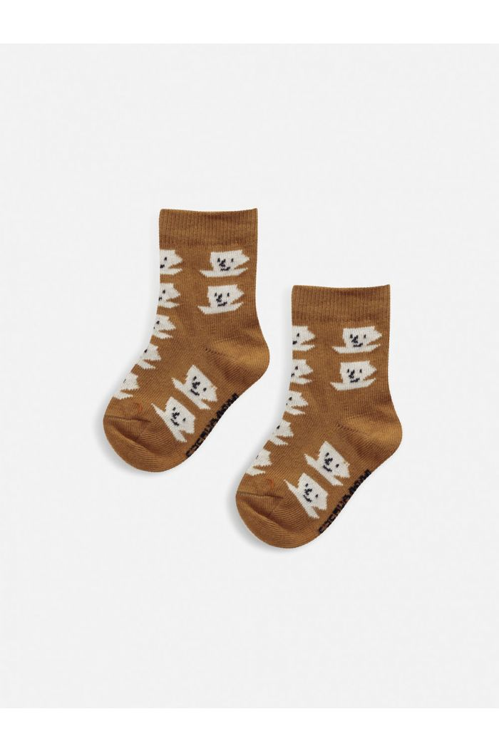 Bobo Choses Cup Of Tea All Over baby socks  Inca Gold_1