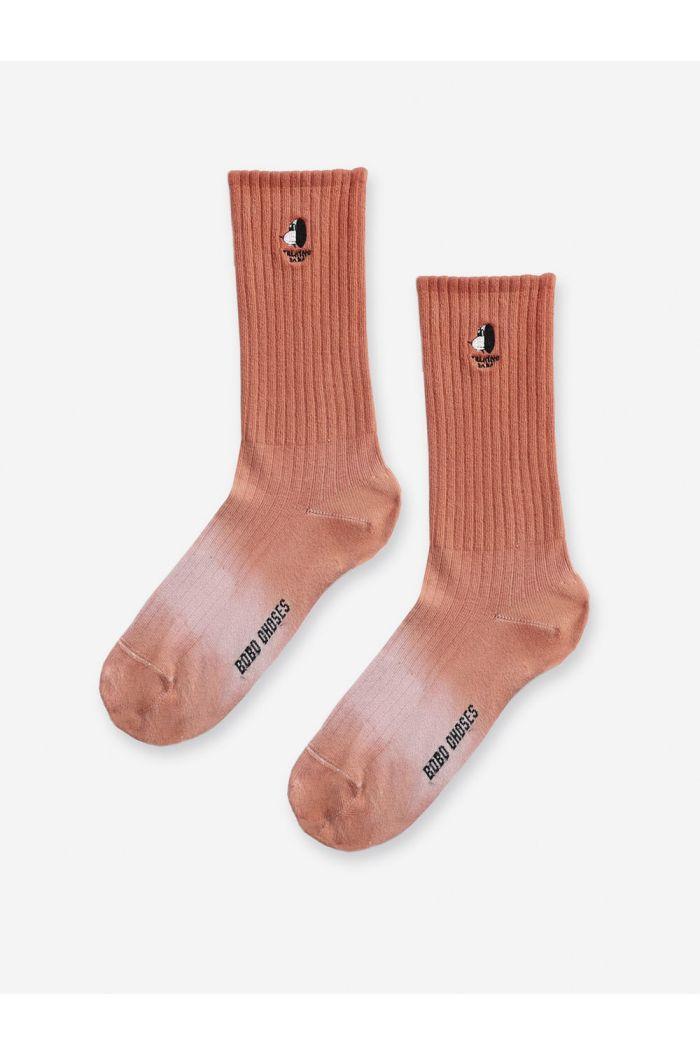 Bobo Choses Doggie short socks Mesa Rose_1