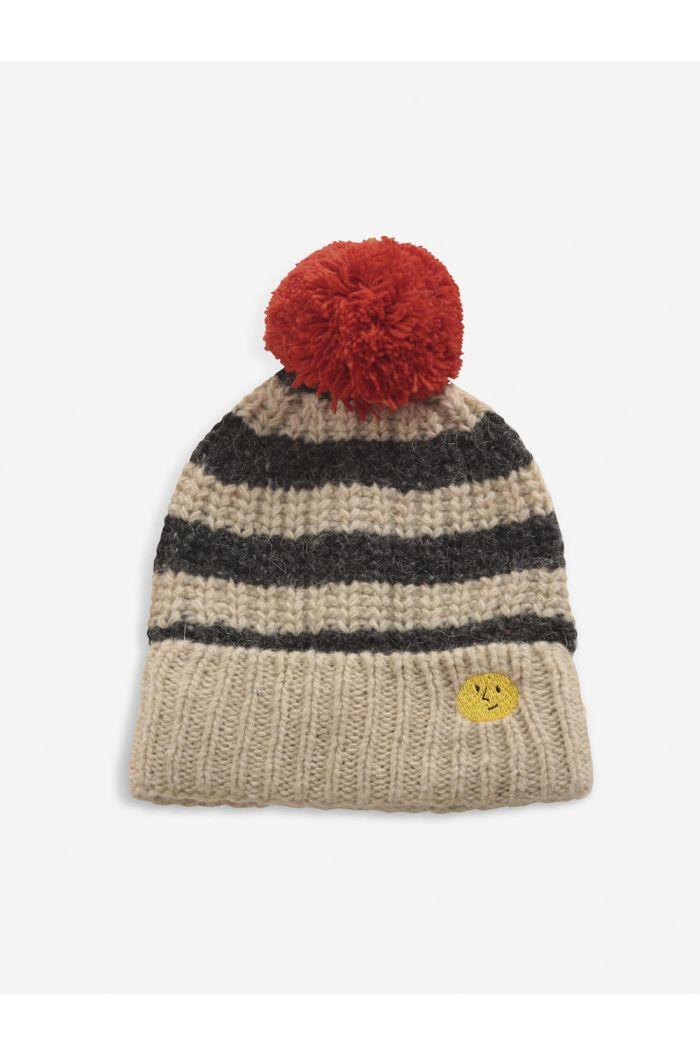 Bobo Choses Stripped knitted beanie December Sky_1