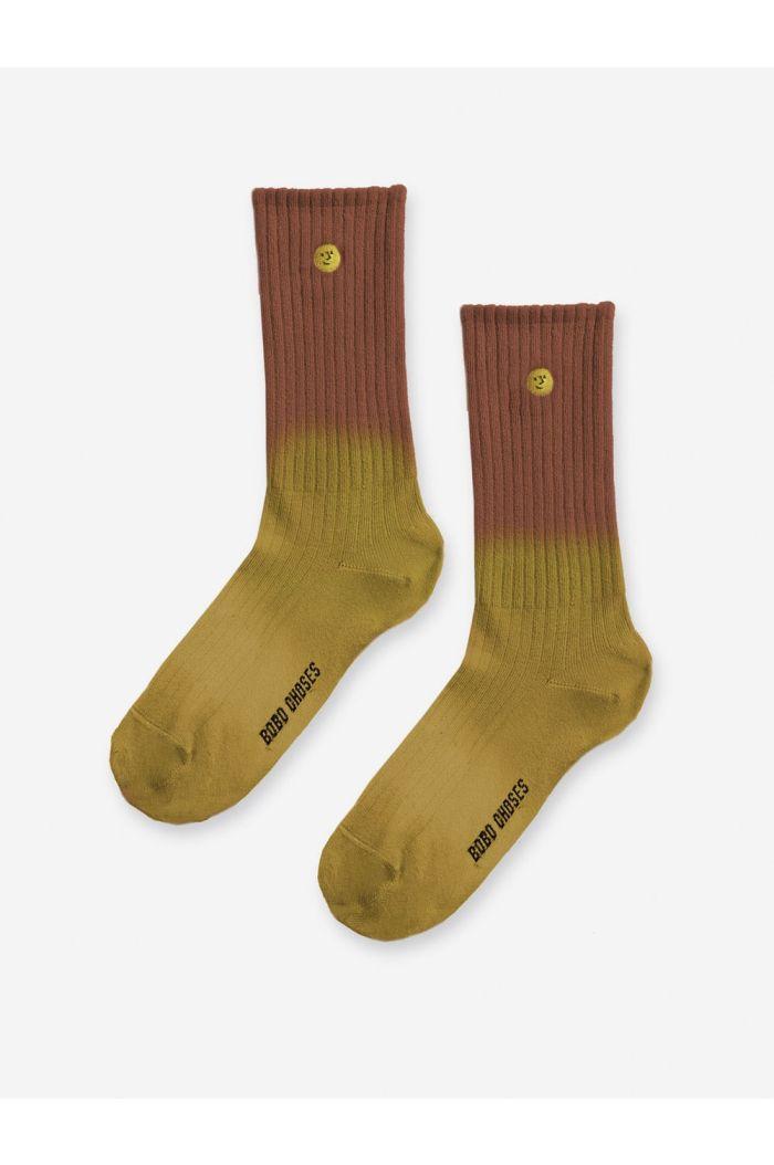 Bobo Choses Face short socks Inca Gold_1
