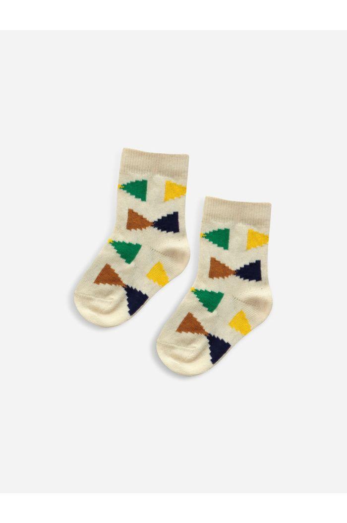 Bobo Choses Ecru Geometric baby socks Rainy Day_1
