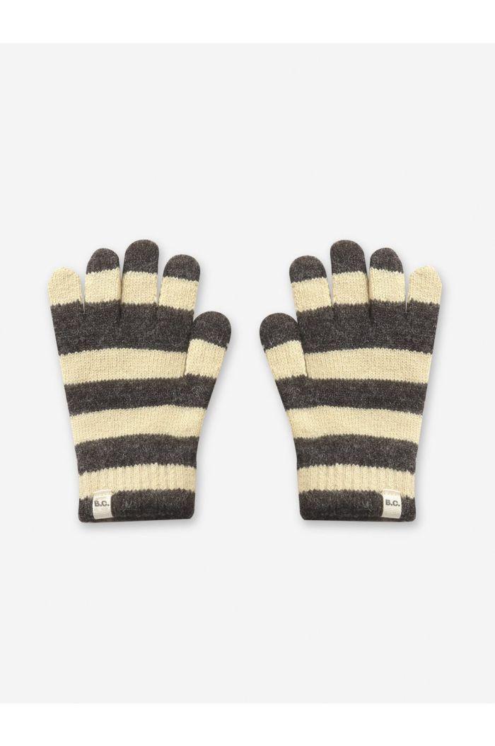 Bobo Choses Stripped knitted gloves December Sky_1