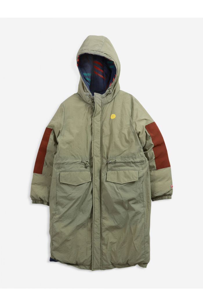 Bobo Choses Scratch All Over reversible parka Dried Herb_1