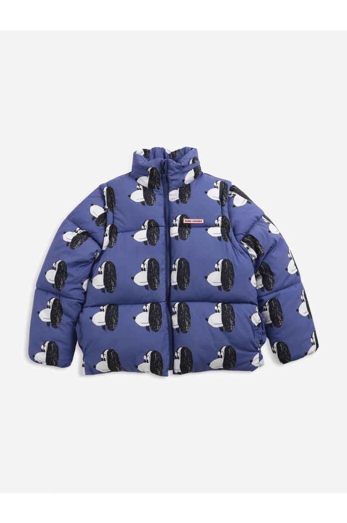 Bobo Choses Doggie All Over padded jacket Royal Blue_1