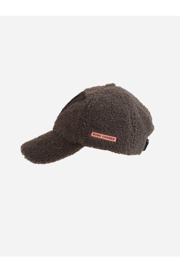 Bobo Choses Dog sheepskin cap  Dark Slate_1