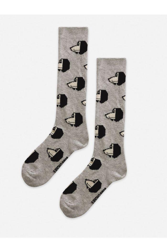 Bobo Choses Doggie All Over long socks Gray Violet_1