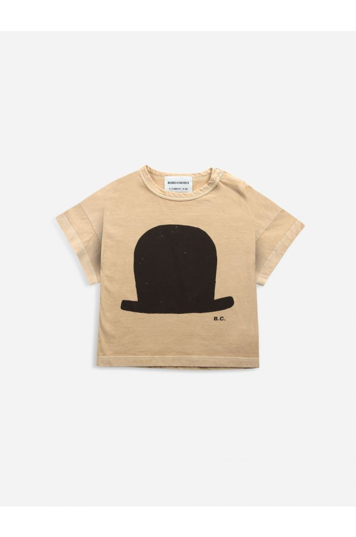 Bobo Choses Chapeau short sleeve T-shirt  Honey Yellow_1