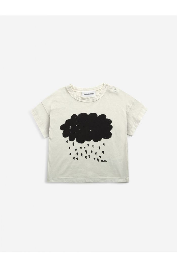 Bobo Choses Cloud short sleeve T-shirt Bone White_1