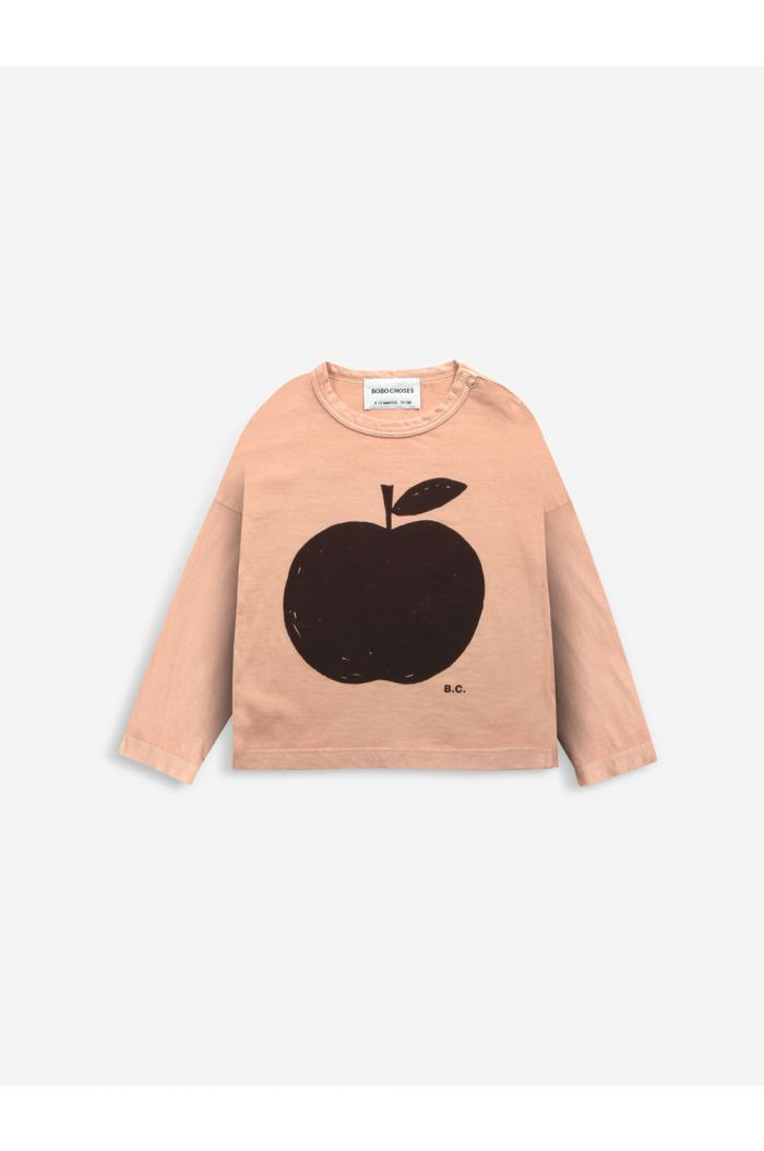 Bobo Choses Poma long sleeve T-shirt Baby Caramel_1