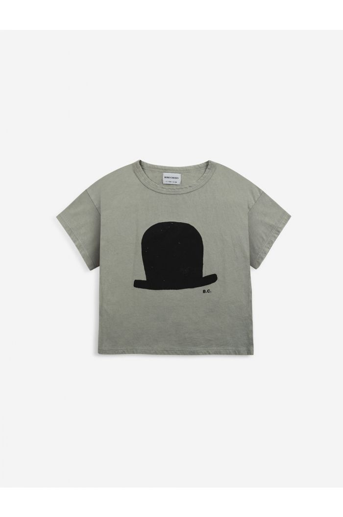 Bobo Choses Chapeau short sleeve T-shirt  Dried Herb_1