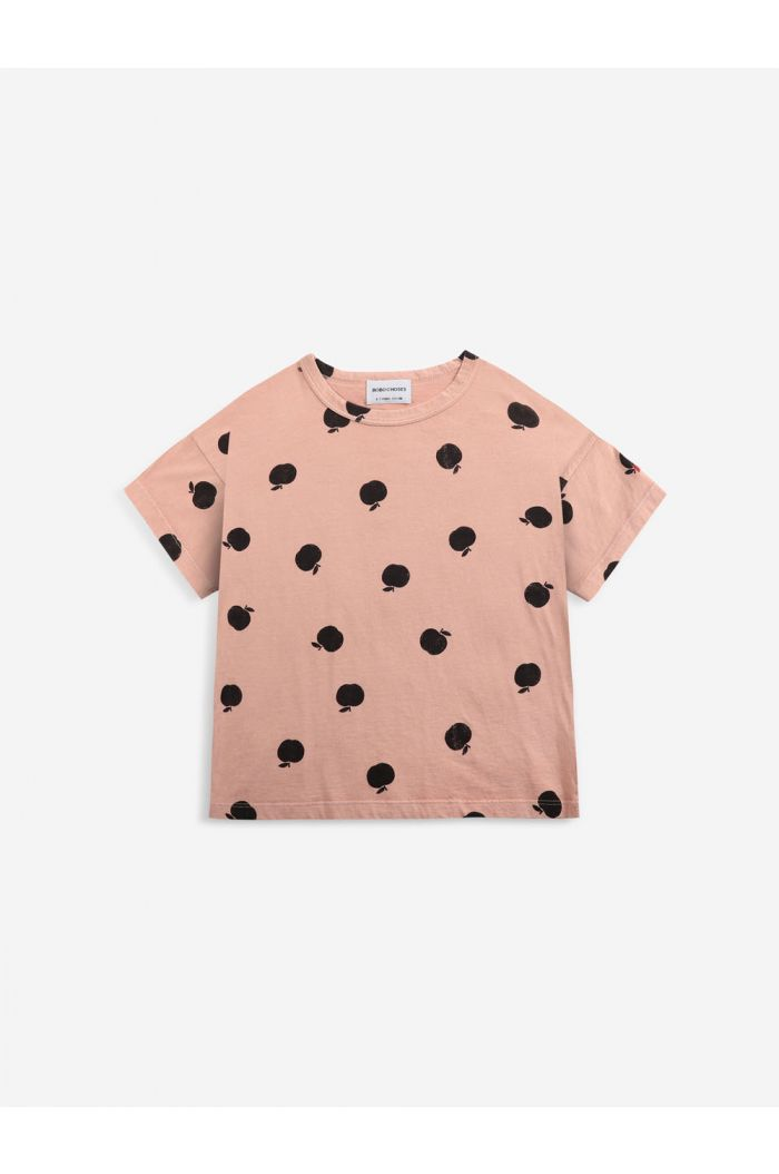 Bobo Choses Poma allover short sleeve T-shirt Caramel_1