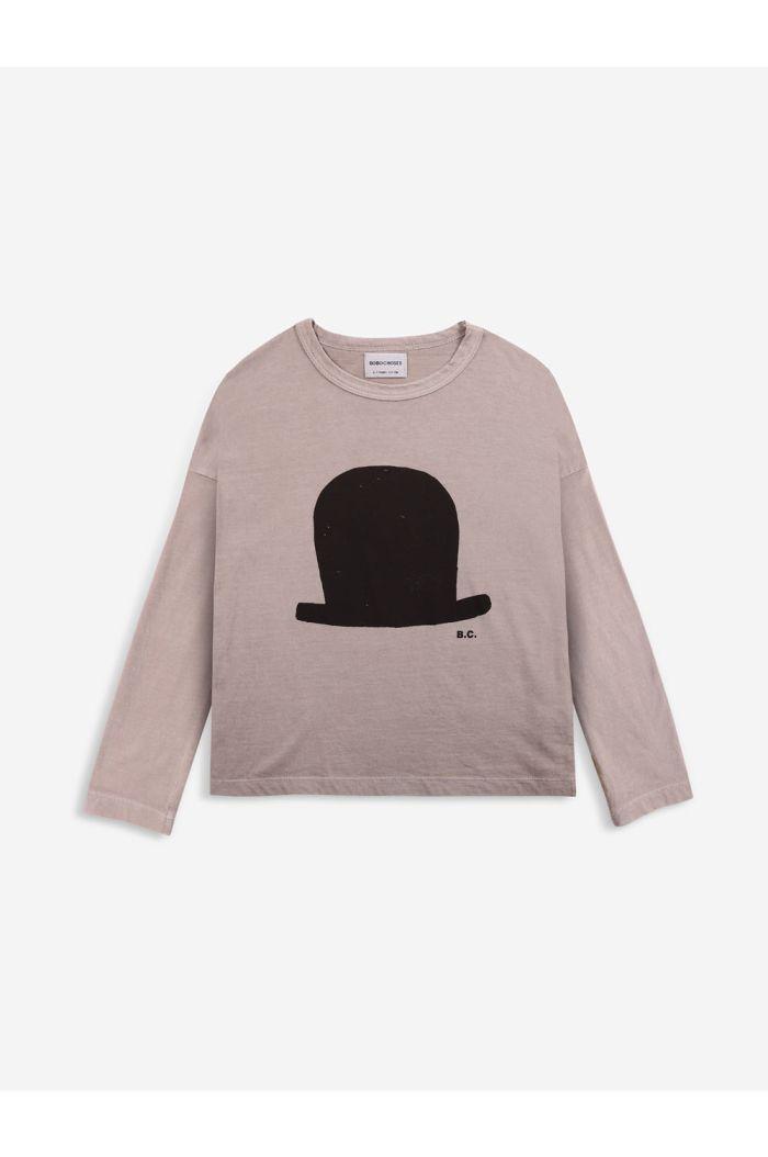 Bobo Choses Chapeau long sleeve T-shirt Café au Lait_1