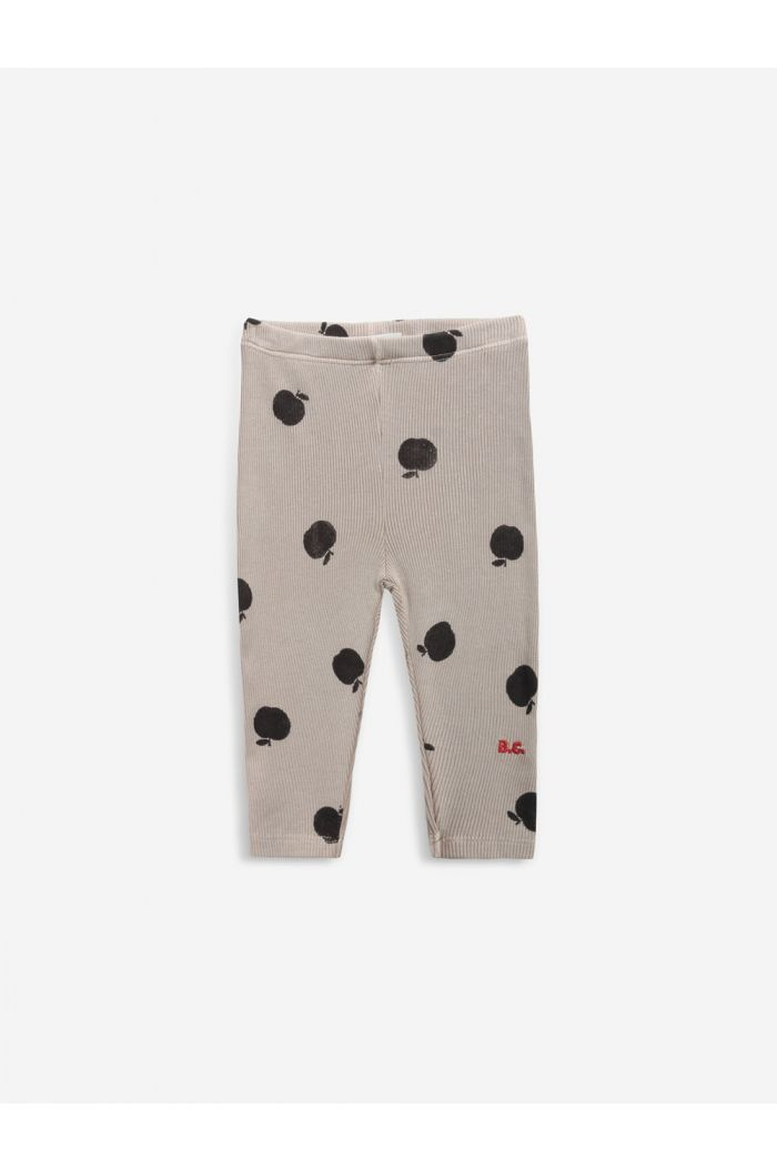 Bobo Choses Poma allover leggings Café au Lait_1