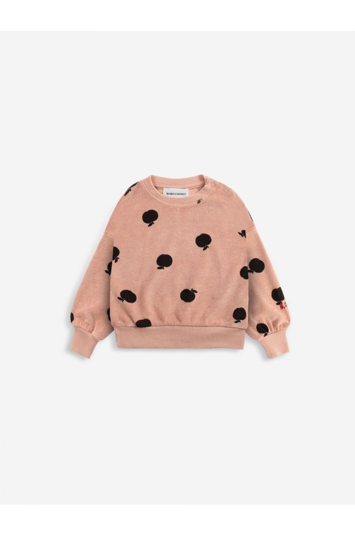 Bobo Choses Poma allover terry sweatshirt  Caramel_1