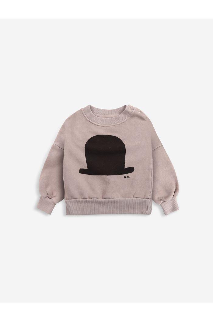 Bobo Choses Chapeau sweatshirt Café au Lait_1
