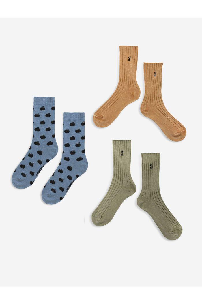 Bobo Choses BC long socks pack  Dried Herb_1