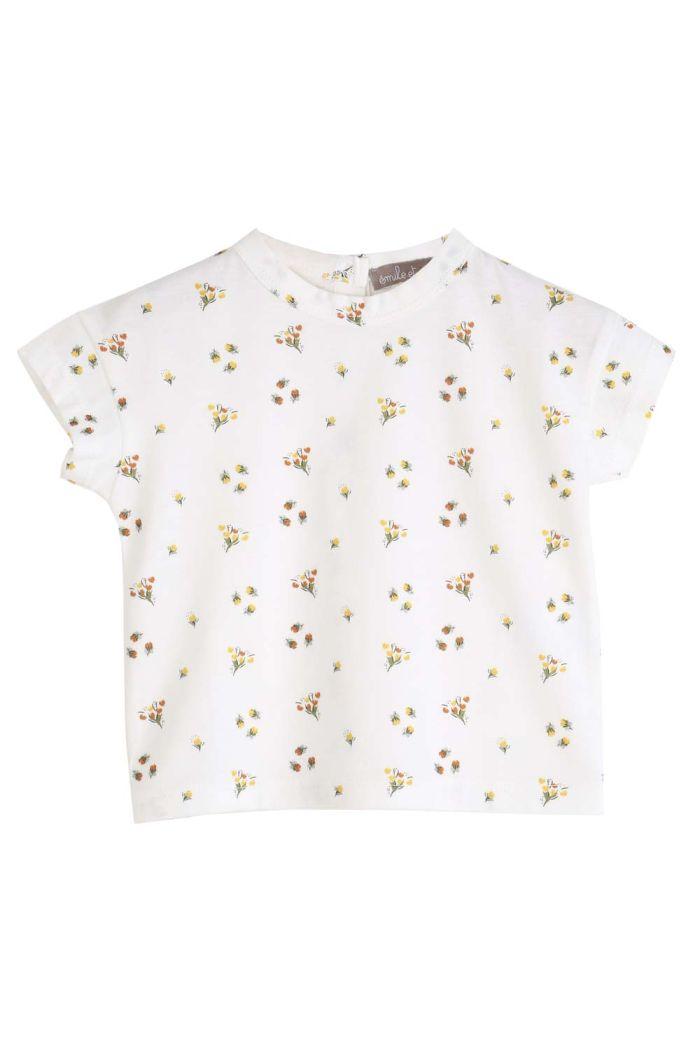 Emile et Ida Tee Shirt Ecru Mimosa