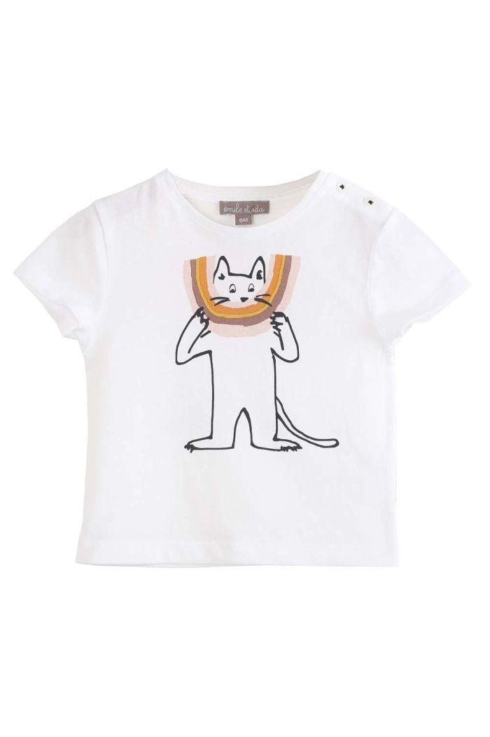 Emile et Ida Tee Shirt Ecru Chatciel