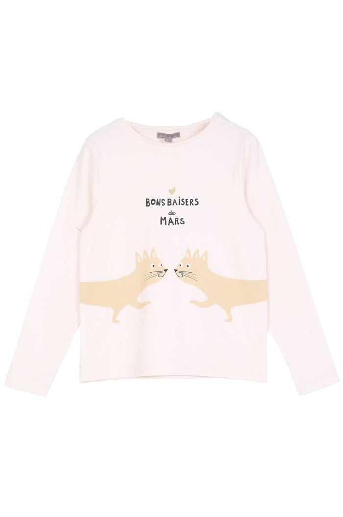 Emile et Ida Tee Shirt Ecru Bons Baisers_1
