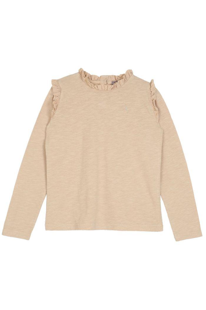 Emile et Ida Tee Shirt Ruffles Dune_1