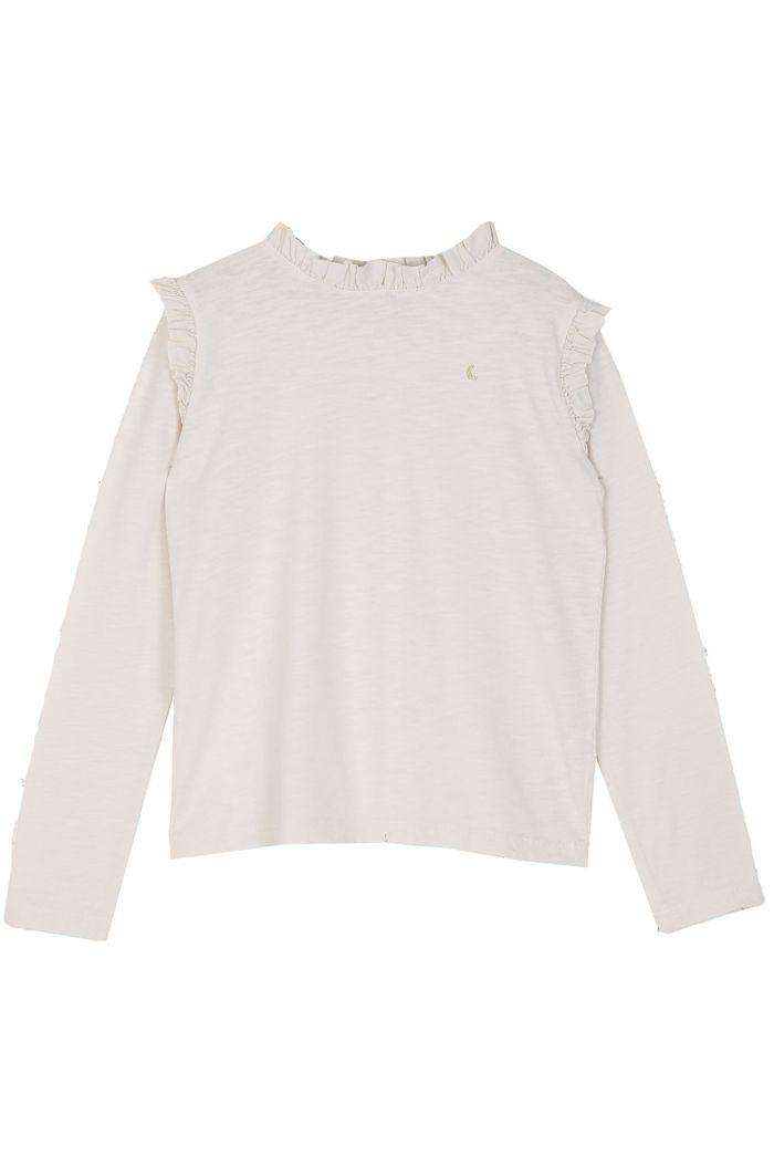 Emile et Ida Tee Shirt Ruffles Ecru_1