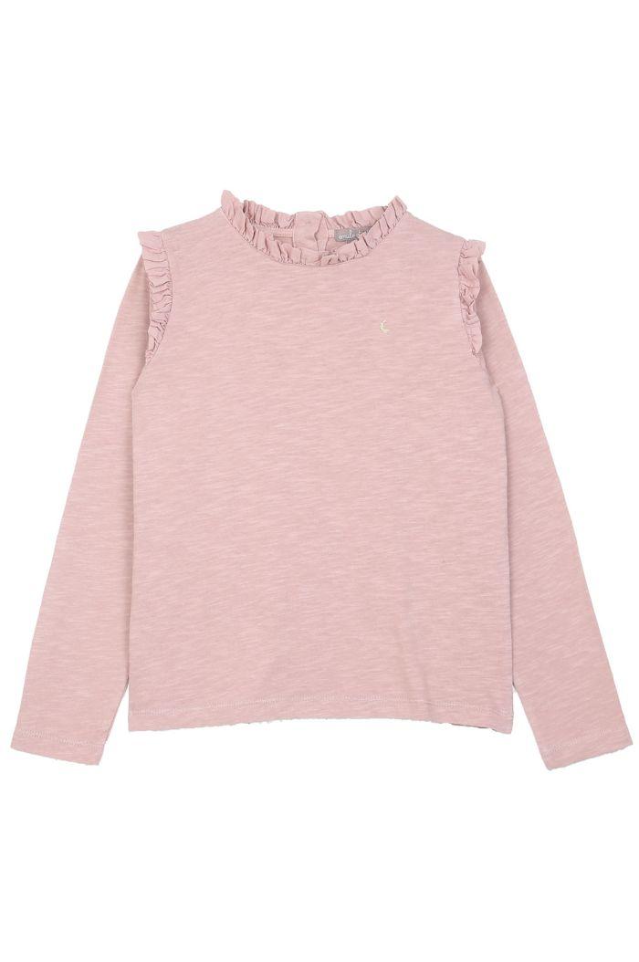 Emile et Ida Tee Shirt Ruffles Rosa_1