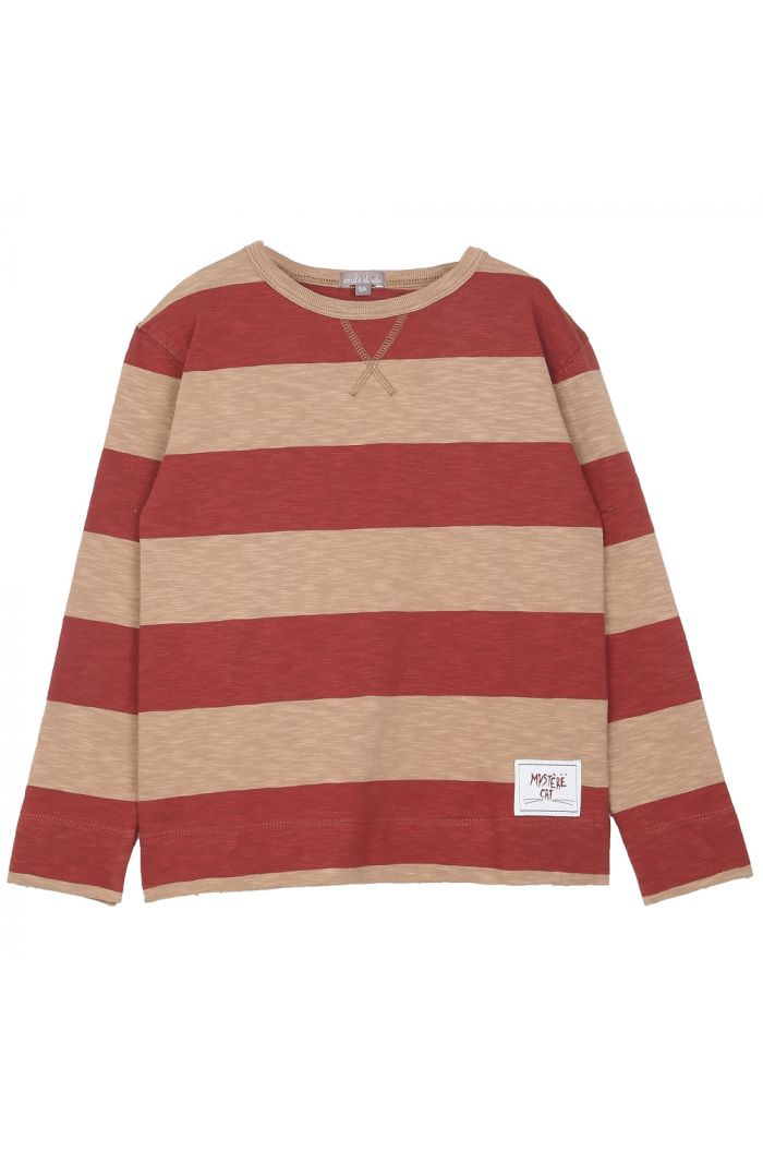 Emile et Ida Tee Shirt Striped Feu_1