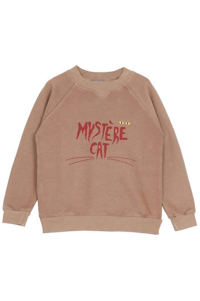 Emile et Ida Sweatshirt Mystere Cat Marron Glace Mystere_1