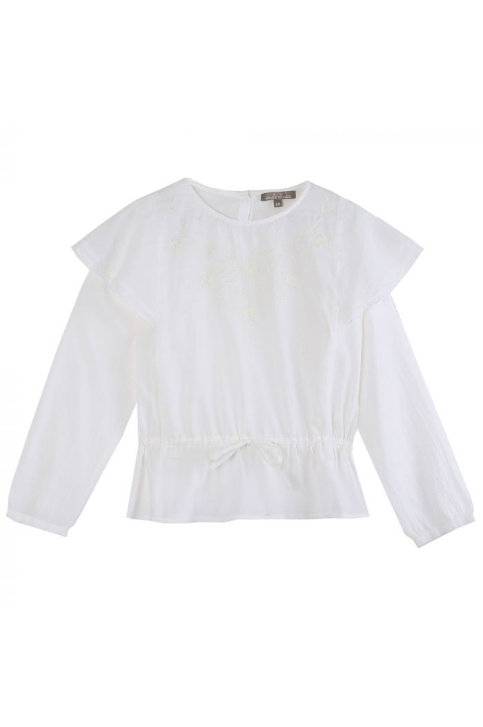 Emile et Ida Blouse Flower Embroidery Ecru_1
