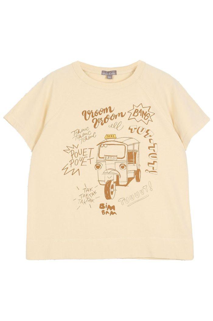 Emile et Ida Tee Shirt Coton Tuk Tuk Vanille_1