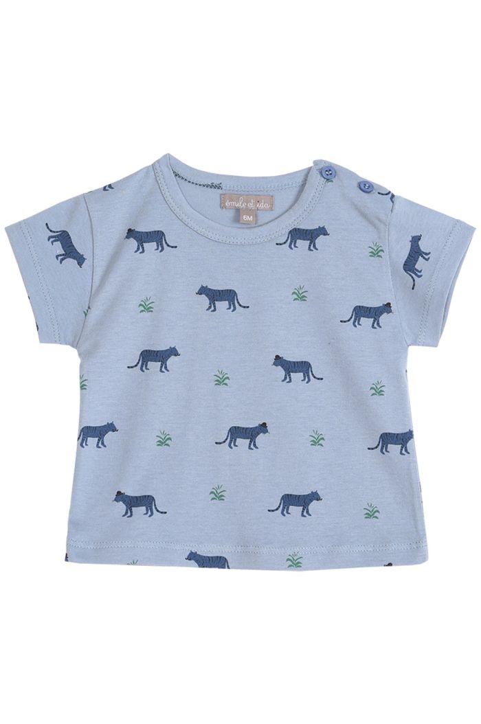 Emile et Ida Tee Shirt Coton Organic Tigre Mousson Tigre Ao_1