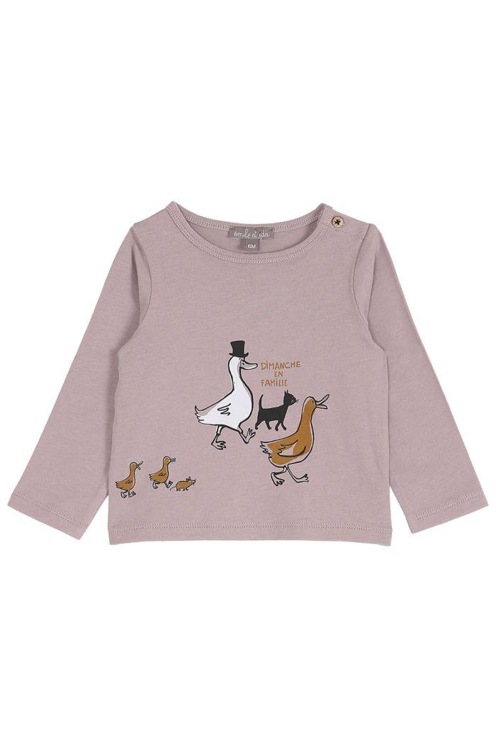 Emile et Ida Longsleeve Duck Family Violette En Famille_1