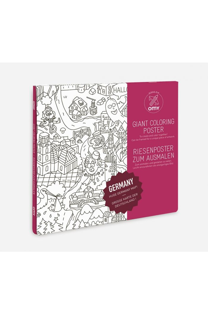OMY Giant Coloring Poster Germany