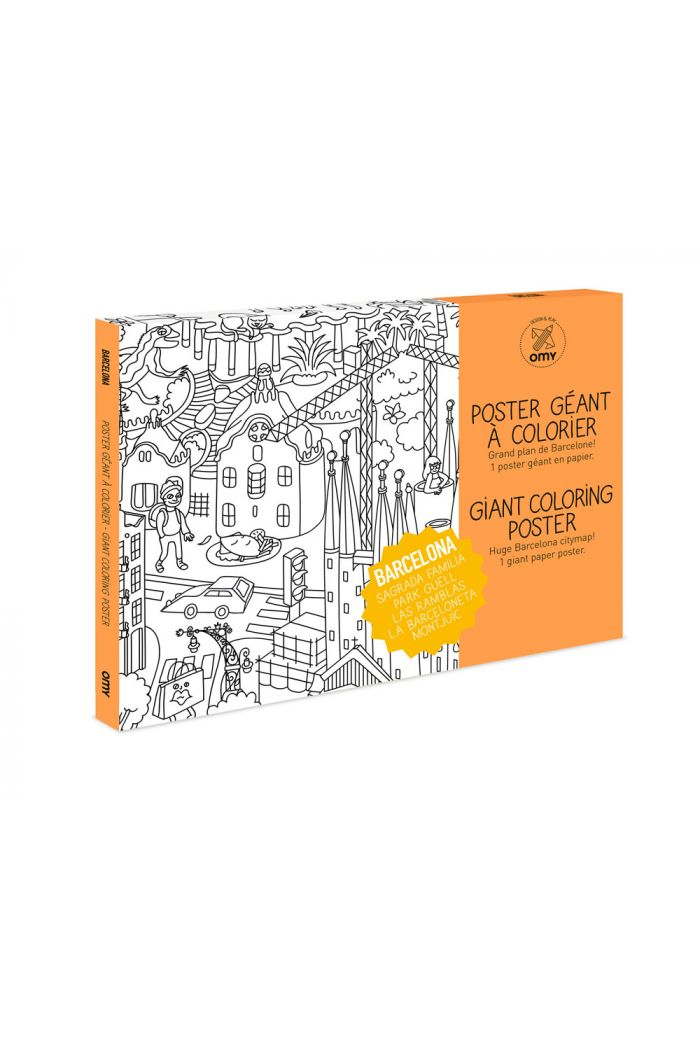 OMY Giant Coloring Poster Barcelona