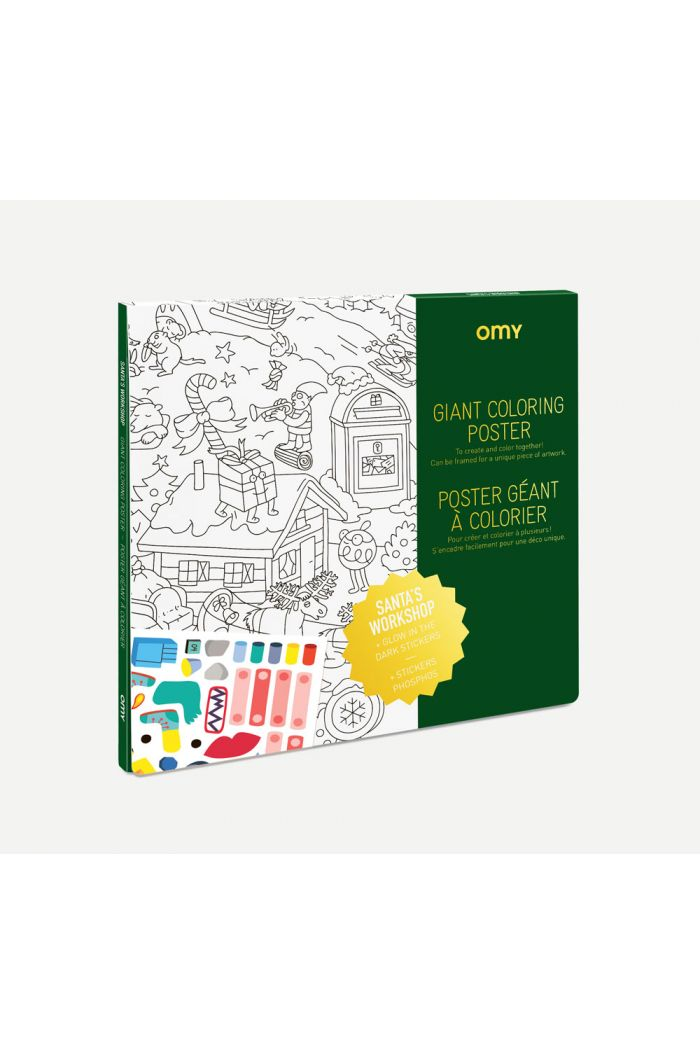 OMY Giant Coloring Poster Christmas Factory