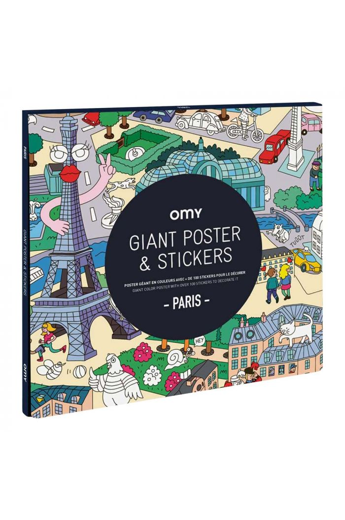 OMY Giant Coloring Poster & Stickers - Paris_1