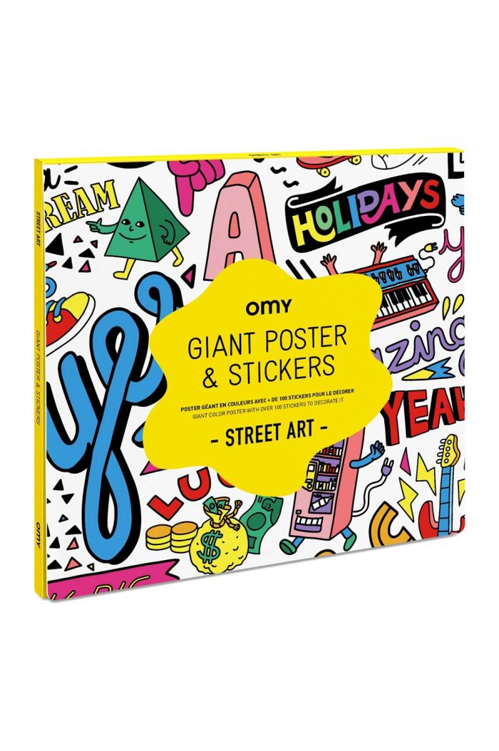 OMY Giant Coloring Poster & Stickers - Street Art_1