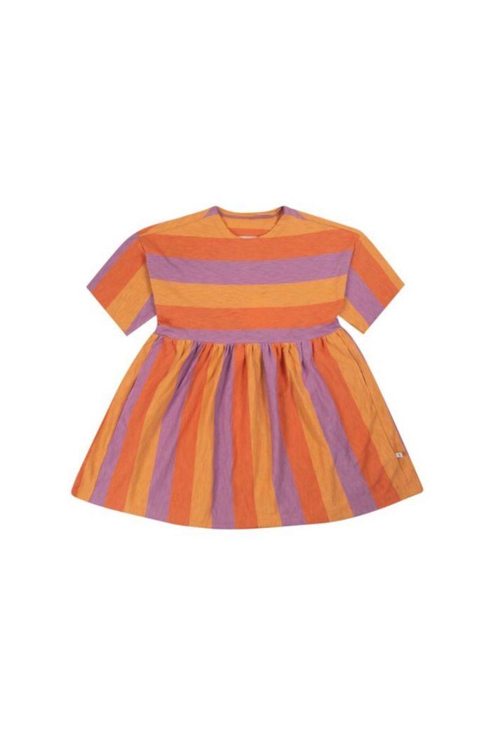 Repose AMS Simple Dress shortsleeve Peachy Lavender Block Stripe_1