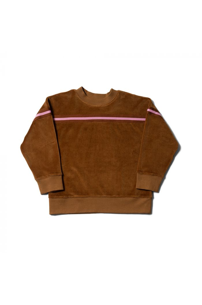 Wynken Stripe Tape Sweat Soft Umber_1